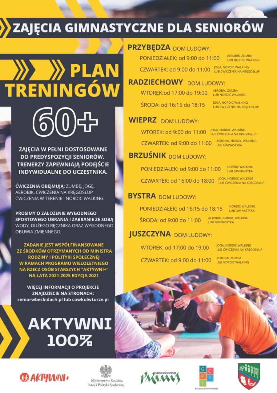 AKTYWNI 100% - Zajęcia gminastyczne dla Seniorów - Plan treningów 60+